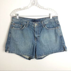 Calvin Klein High-Waist  Mom Denim Shorts